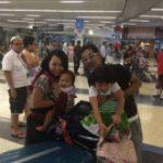 日本帰省から家族帰還