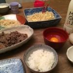 アラフォーの男メシ〜超簡単すき焼き