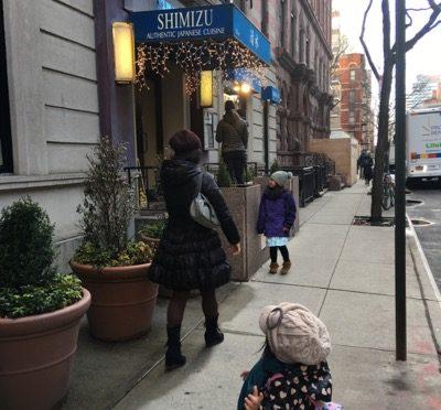 マンハッタンで家族でお寿司〜Shimizu Sushi