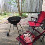 裏庭BBQのある暮らし
